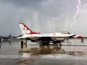 Thunderbirds in lightning