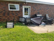 Wind damage to Pole building/garage and back patio furniture