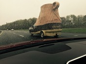 LL Bean Bootmobile on the road in Haverhill