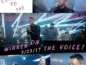 """CONGRATS """"VOICE"""" WINNER!"""