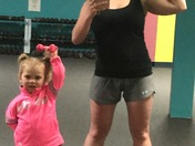 Sometimes your workout partner is only 2 years old! & that's okay!