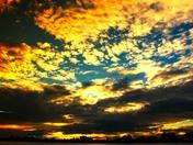 Sunset at lake Manawa Tuesday night.