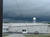 Final line of storm moving in metromont on white horse road