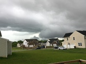 Storm clouds in Liberty Township
