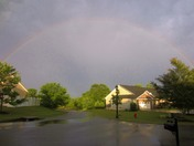Rainbow arc after thunder storms