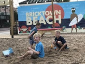 Edwards Boys Having Fun at Bricktown Beach