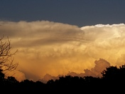 Storm clouds & sunset #okwx