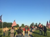 Memorial Day flag raising