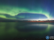 Sunrise and auroras