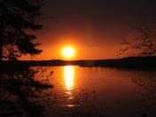Blazing Sun Setting