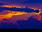 sunset clouds, 5-28-2017