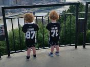 Young twin brothers; big Pens fans!!