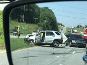 Wreck on 123 between Clemson and Seneca