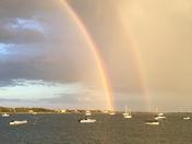 Double rainbow Lewis Bay