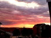 Flaming sunset at Ventana Ranch