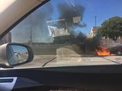 Car Fire on W Dodge Road