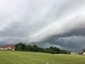 Advance storm rolling through