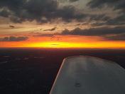 Sunset over Mocksville