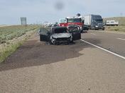 Car on fire on I-40