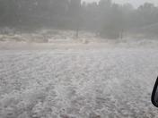 Hailstorm in Duran N. M.