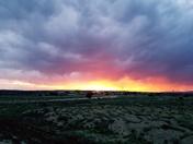 Fire in the sky from NE Rio Rancho.