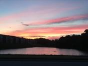 Sunrise over Century Lake Park in Kernersville