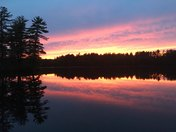 "sunset on Wadleigh Pond ""  Longitude"