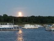 Moon over latitude