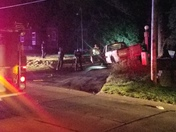 Truck crash on Bellevue Boulevard North Bellevue Nebraska