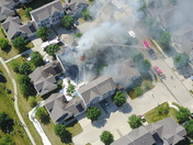 Townhouse fire 156th and Meredith Dr. Urbandale