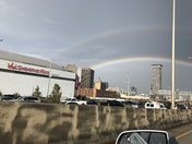 Double rainbow over Smoothie King Center