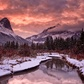 Canmore Alberta Winter sunset