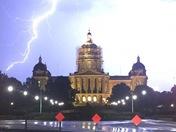 Lightning in Des Moines
