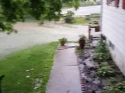 My yard is a river