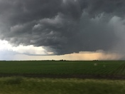 Storm headed west