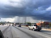 Heavy rains in east Greenville