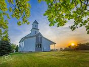Sunrise at Strand Lutheran Church in Gilman - Photo by Dave Austin
