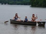 Canoeing at Half moon lake.