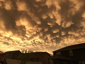 Mammatus Clouds at Sunset After the Storm