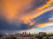 Sunset Glow over Des Moines - Photo by Dave Austin
