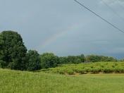 Landrum rainbow over the horse fields