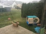 Playground blown over