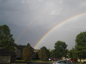 Double rainbow in Belton Missouri