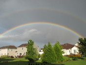 double rainbow June 19th 2017 in my backyard West Bend,, 6:30 pm