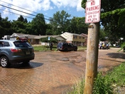Car hits fire hydrant by Turner school field.