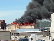 Fire on SW Blvd paper supply company