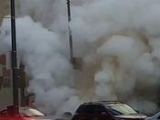 Steam line blowing.