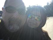 Bringing my daughter to school on Selfie Day!