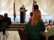 Attorney Mark Schneider speaks at the 2017 Salute to Labor