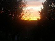 Sunset on a farm near Leechburg